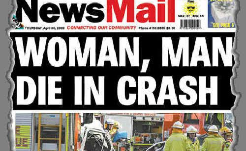 Flashback to April 2009 and this front page story on a fatal accident.