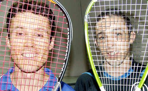 Hayden Ogilvie (left) beat his younger brother Zac in the final of the Maryborough Closed Squash tournament at the Hilltop Squash Club.