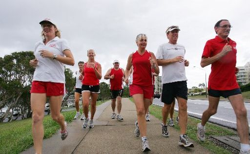 Lazy Runner Mooloolaba Club owner operator Marie Bean (left).
