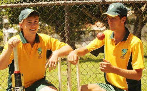 North Coast Zone's under-16 Bradman Cup batsman Lewis Chevalley (left) and bowler Brad Chard.