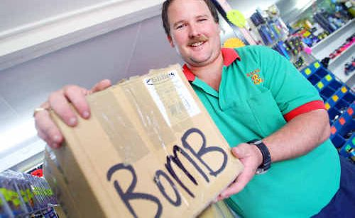 """Dean Ruff is relieved after finding out his stock box, which initially gave him a scare yesterday, was pre-used for a style of sinkers called """"Bomb Sinker Moul""""."""