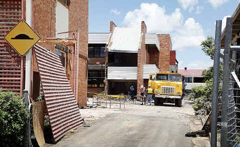Old TAFE buildings are being demolished for Maryborough High's new trade trading centre.
