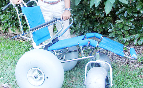 The second beach wheelchair for Byron Shire to be kept at Brunswick Heads for the use of north-of-the shire residents.