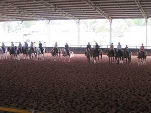 Riders gather at Gatton Arena