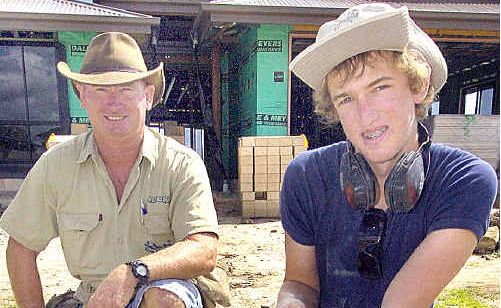 Hervey Bay apprentice carpenter James Irwin (right) started work this week with Rick Walters Homes.