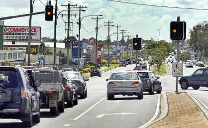 Lights at the intersection of Boat Harbour Drive and Nissen Street were out during peak hour.