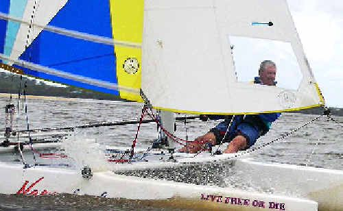 Geoff Horsley in action.