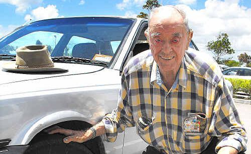 Retired police sergeant Bill Cargill, 90, says spending just a few hundred dollars putting tubes into the tyres of hire cars could save lives by reducing the number of roll-overs.