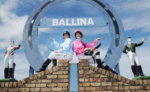 Local jockeys Lorna Cook and Emily Keogh at Ballina Jockey Club.