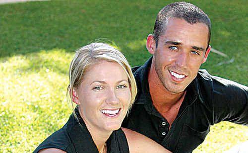 Golfer Sarah-Jane Kenyon and husband Duane Smith.