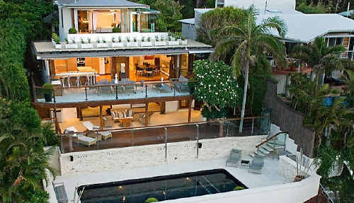 The luxurious Byron Bay mansion owned by entrepreneur and property developer Eddie Phillips in Lighthouse Road is on the market for a reported $12 million.