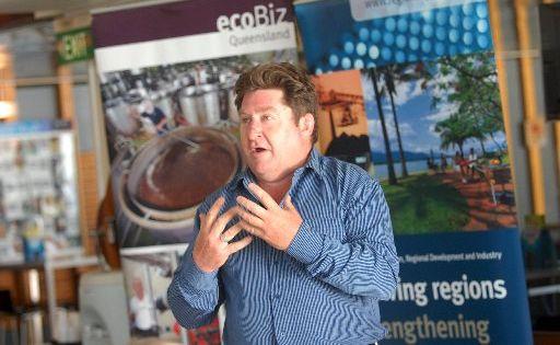Don Parry speaks at the ecoBiz workshop.