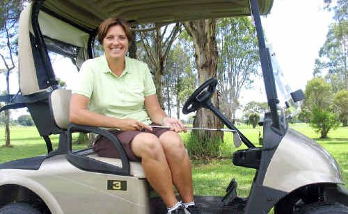 Nicole Picken, the new golf professional at Mullumbimby.