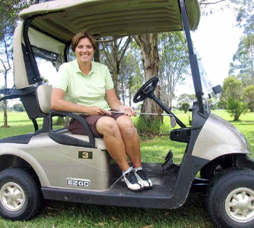 Nicole Picken, the new golf professional at Mullumbimby.