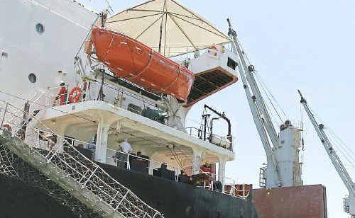 CSL Atlantic berths at the Port of Bundaberg to receive 15,000 tonnes of sugar.