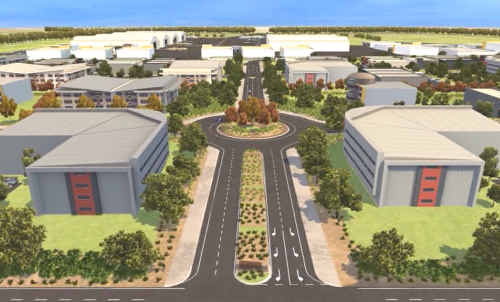 An artist's impression of the Aerospace and Defence Support Centre Amberley.
