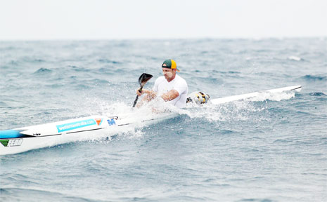 Byron Bay surf ski paddler Kurt Tutt finished 13th in a hot field in 'The Doctor', the annual ocean race off the coast of Perth.
