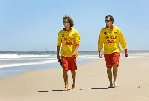 The O'Connor brothers, Joe (left) and Shane, were members of the Ballina Jet Boat Surf Rescue crew that rushed to South Ballina Beach on Tuesday evening in a vain effort to help save the lives of a NSW couple who drowned in the surf.