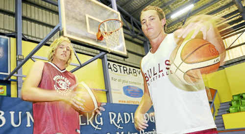 Stepping up for the Bundaberg Radiology Bulls this season are Michael Jenkin and Kyle Keirnan.
