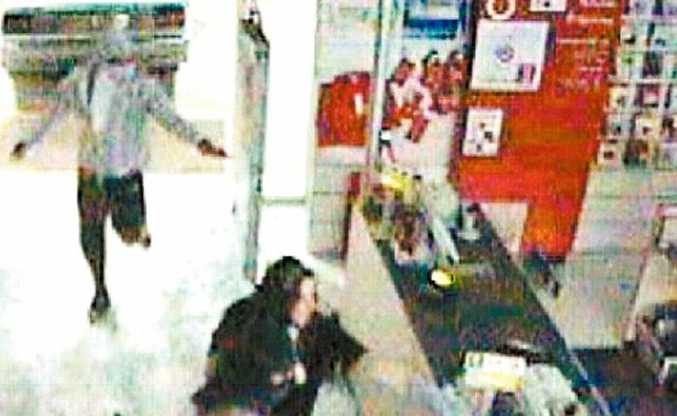 CCTV footage captures the moment when thieves made their lightning raid on the Goonellabah Target store after using a stolen car to break through the front doors.