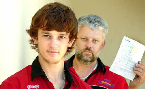 Hamish Redman and his father Paul are still struggling with the ban.