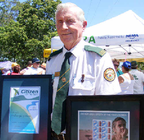 Bill Evans recieves award after 30 years at the Casino Volunteer Rescue Squad