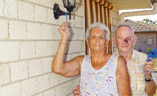 Dawn and Buddy Stevens had their Australian flag stolen on the eve of Australia Day.