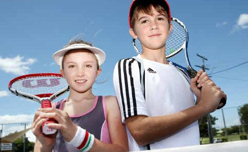 Lilly and Thomas Kele are ready to hit the courts with the junior 2010 tennis season starting this weekend at Victoria Park.
