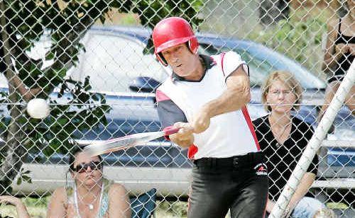 Wests' batter Paul Dowling.