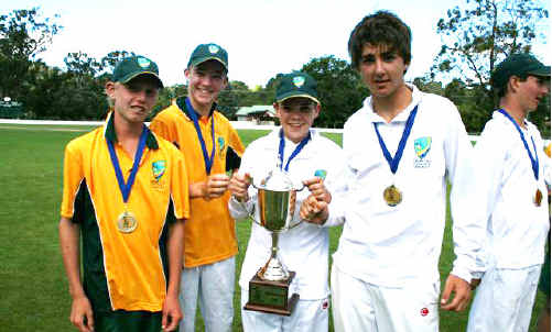 From left Brayden Pardoe, Ryan Johnson, Jacob Purser and captain Jake Kroehnert starred at junior representative level.