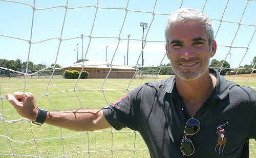 Former Socceroo Craig Foster – back at his old stomping ground in Goonellabah.