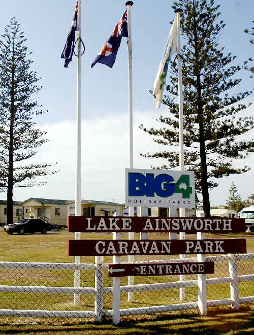 The Lake Ainsworth Caravan Park, one of three prime caravan park sites currently controlled by the Ballina Shire Council, but soon to be taken over by the NSW Government.