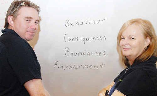 Mackay Youth Support Services youth support co-ordinator Shane Sturdy and family and youth support worker Karen Tomlinson will facilitate 'Who's in Charge' parent workshops.