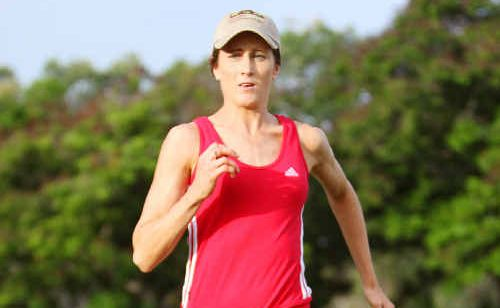 Local Anna McMurtrie hard at training for national trials.