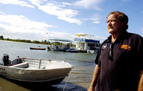 Pimlico resident Barry Glass helped save the life of a Tweed man badly injured after being struck by a propeller in a boating accident at Mobbs Bay in Ballina on December 30.