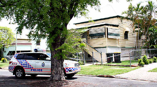 The house in George Street, Rockhampton, where the elderly grandmother was brutally bashed.