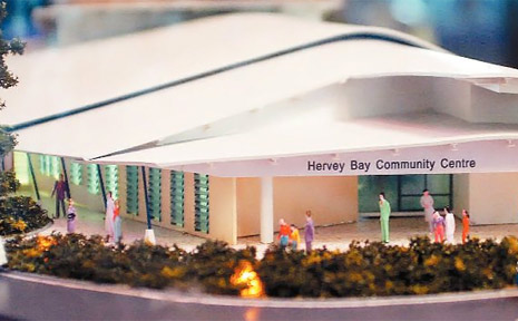 The planned Hervey Bay Community Centre will be a more appropriate space for local emergency relief programs.