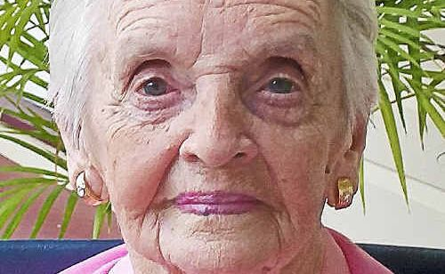 Grace Homman when she was 102 years old. Photo: SUBMITTED