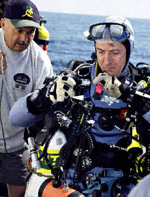 Mark Spencer prepares for his next descent.