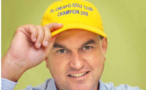 Bank manager Adrian Files made some golfing history by winning the El Cheapo Tour title.