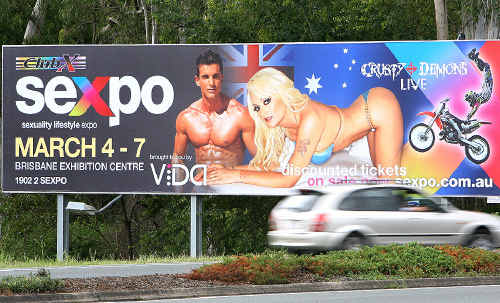 A Sexpo billboard created plenty of community debate in Ipswich.
