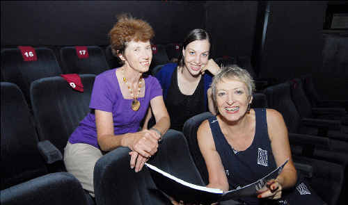Getting ready for another entertaining year of community theatre are, from left, Kucom Theatre members Sue Stock, who will direct the play Too Close For Comfort, Lucy Dobson, whose original play, Strictly Professional, will be performed, and Bronwyn Grannall, who will direct Shoehorn Sonata.