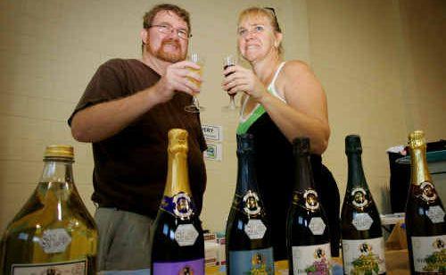 Greg and Janita Ferris enjoy a glass of the not-so-hard stuff.