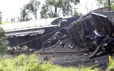 A coal train derails near Rockhampton this morning.