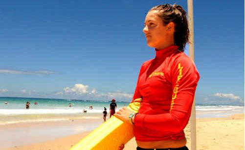 Hannah Smith, who normally volunteers at Yamba SLSC, was asked to help out at Minnie Water this week to help build patrol numbers.