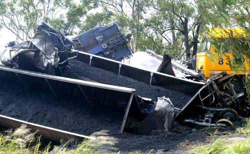 QR train derailed near Stanwell.