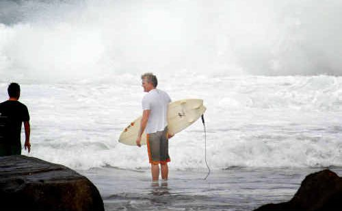 Angourie yesterday became a playground for surfers who had been starved of waves for nearly two months.