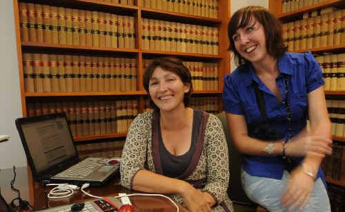 Liza Bloomer and Jas Grady in the new office for Yoohoo Web