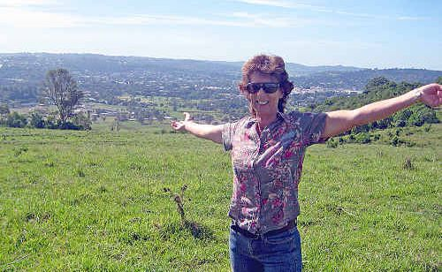 Donna Purtle on the land she wants to have re-zoned for urban development in North Lismore.