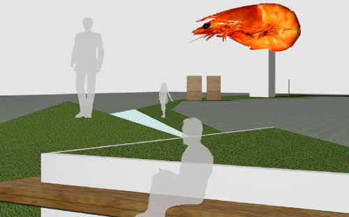 A supplied concept design of the replacement for the Big Prawn, constructed from hi-tech materials at a cost of some $500,000.